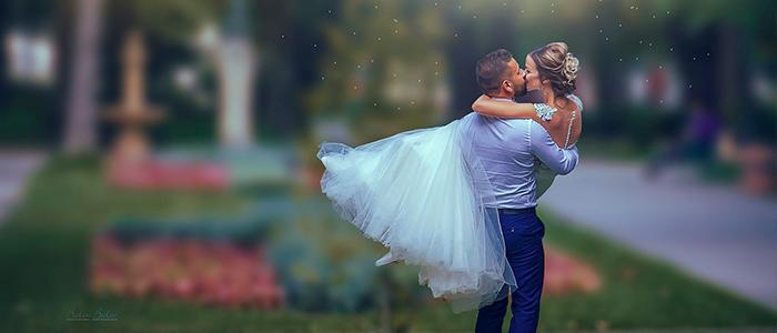 целувка-булка-младоженец