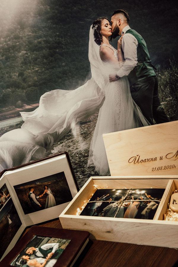 Канава, фотокнига, гравирана кутия - сватбен фотограф Балин Балев Варна